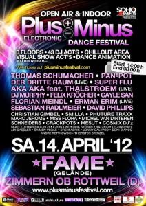 Flyer des PlusMinus-Festival 2012
