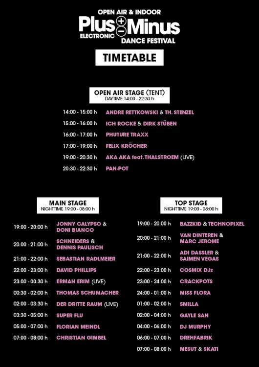 PlusMInus-Festival 2012 - Timetable